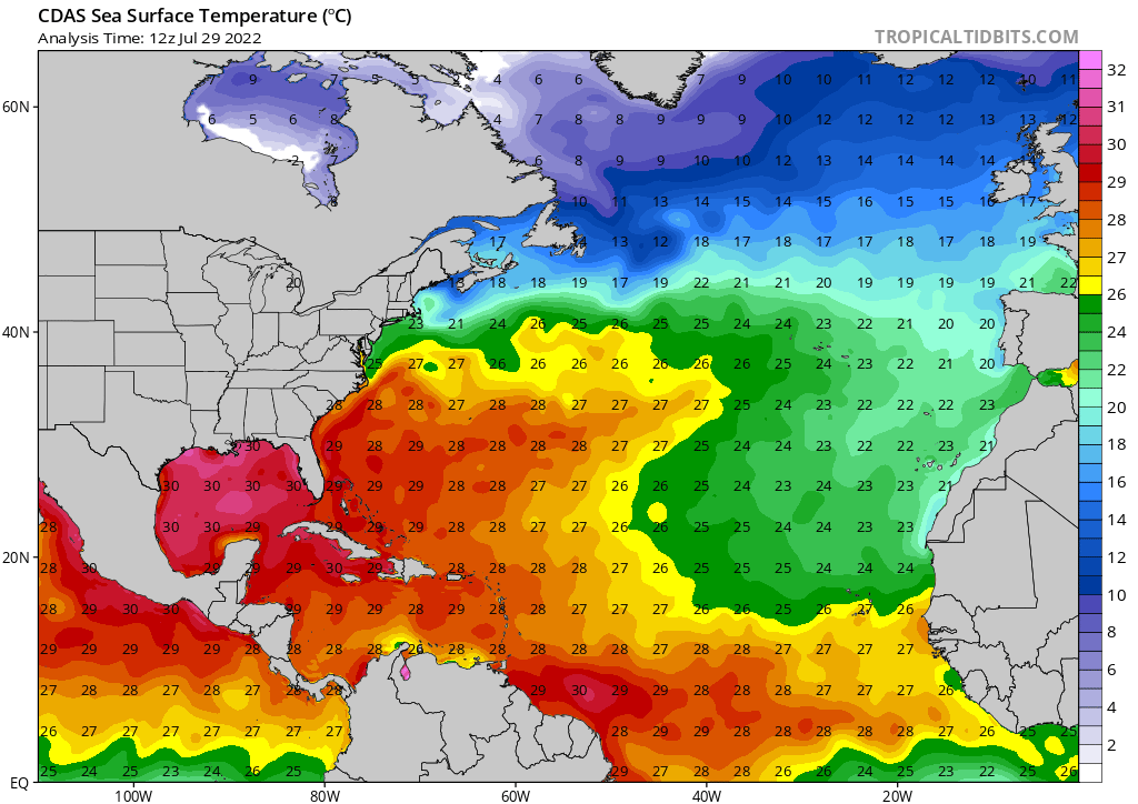 Current Ocean Temps